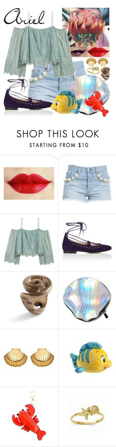 """""""Casual Ariel-The Little Mermaid"""" by arrowlily ❤ liked on Polyvore featuring Forte Couture, H&M, Barneys New York, Circus by Sam Edelman, Astley Clarke, Disney, Tory Burch, disney, ariel and littlemermaid"""