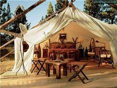 Luxury safari tents Montana