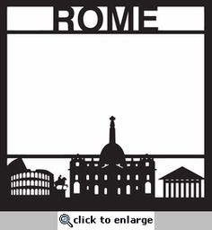 Destinations: Rome 12 x 12 Overlay Laser Die Cut - 12 x 12 Layered die cuts and overlays do come unassembled. Travel Scrapbook, Scrapbook Pages, Scrapbooking, Scrapbook Layouts, Frame Background, Scan And Cut, Biomes, Die Cutting, Silhouette Cameo
