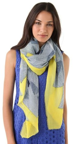 Grey and yellow DVF scarf. Absolute heaven.