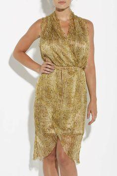 Cleo Snakeskin Dress - Jane Ramsay