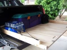 home made truck slide It rolls very smoothly, and is exactly as I hoped. Truck Bed Drawers, Truck Bed Storage, Van Storage, Truck Bed Slide, Truck Bed Camping, Truck Bed Accessories, Navara D40, Truck Boxes, Chevy Avalanche