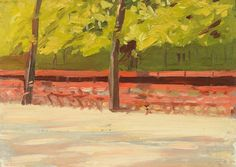 Park Benches and Trees, Edward Hopper, 1907