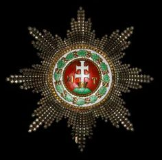 Saint Stephen Order Grand Cross breast star, D. Grand Cross, Maria Theresa, Saint Stephen, Chivalry, The Grandmaster, Vienna, Hungary, Badges, Knight