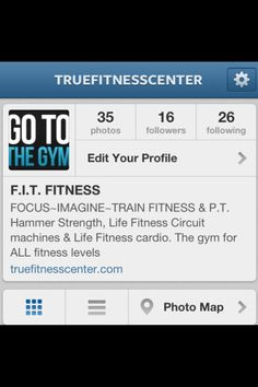 """""""FOLLOW"""" TRUEFITNESSCENTER on Instagram to get motivational, instructional info or just look at our pics, thanks -TFC Circuit Machine, Photo Maps, Cardio, Motivational, Thankful, Gym, Fitness, Life, Instagram"""