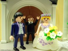 Playmobil's wedding set includes a deluxe wedding chapel, wedding cake, and honeymoon car. Pre-nup and divorce lawyer sold separately.