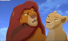 Screencap Gallery for The Lion King Simba's Pride Bluray, Disney Sequels). Simba and Nala have a daughter, Kiara. Timon and Pumbaa are assigned to be her babysitters, but she easily escapes their care and ventures into the Simba Y Nala, Nala Lion King, The Lion King 1994, Lion King Fan Art, Lion King Movie, Simba Disney, Disney Lion King, Le Roi Lion 1, Lion King Pictures