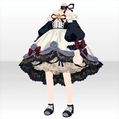 Sparkle ☆ Cocktail | @ games - At Games - Anime Outfits, Cool Outfits, Character Outfits, Character Design Inspiration, Croquis, Hair Reference, Anime Hair, Lolita Dress, Drawing Clothes