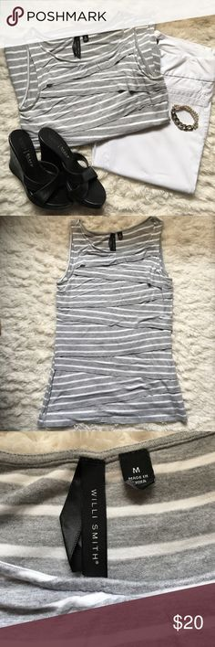 Willi Smith Shirt Willi Smith, Colors: Grey and White, Size Medium Willi Smith Tops Tank Tops