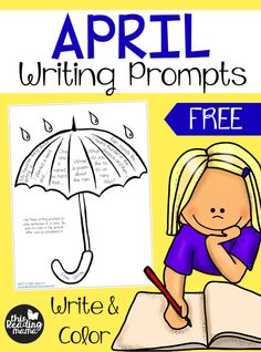 FREE April Writing Prompts - Write and Color - This Reading Mama writing prompts free Writing Prompts 2nd Grade, Second Grade Writing, Kindergarten Writing Prompts, Writing Prompts Romance, Writing Prompts Funny, Writing Prompts For Kids, Picture Writing Prompts, Teaching Writing, In Kindergarten
