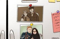 Awwww. Steve and Bucky... Oh gosh, Buck!