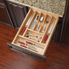 Rev-A-Shelf Wood Cut-to-size Cutlery/Kitchen Utensil Drawer Insert Separator/Organizer Cut-To-Size Cutler Drawer Insert)