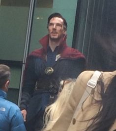 Benedict Cumberbatch filming Doctor Strange in London, 21 February 2016