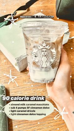 Low Calorie Starbucks Drinks, Secret Starbucks Recipes, Bebidas Do Starbucks, Starbucks Secret Menu Drinks, Starbucks Coffee, Coffee Drink Recipes, Coffee Drinks, Yummy Drinks, Healthy Drinks