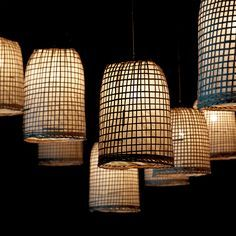 Bamboo and Rice Paper Hanging Lamp