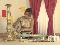 Şamdan projesi Ahşap boyama uygulamaları - YouTube