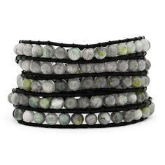 Known for its strengthening powers and natural energies, this Chen Rai Labradorite Wrap Bracelet can be a powerful accessory to any outfit. At 38.5 inches, this bracelet can be wrapped several times, or worn in a variety of creative ways. Whatever your style, trendy, Bohemian chic, Southwestern, this wrap bracelet is the perfect addition to any look.