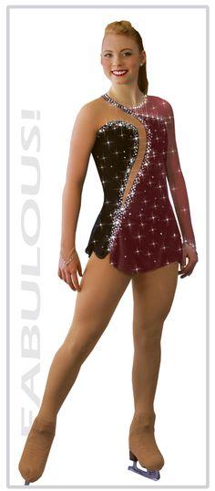 vestidos de diseñador Sharene Skatewear para patinaje artístico, patinaje sobre hielo, el bastón que gira, traje de baile y gimnasia rítmica.