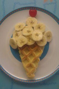 Icecream waffle