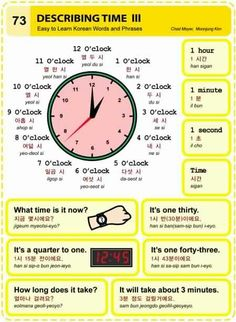Describing time