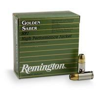 Remington Golden Saber, 9mm Luger, HPJ, 147 Grain, 25 Rounds