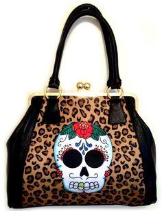 Jubly Umph - Sugar Skull & Leopard Print Handbag - Buy Online Australia Beserk