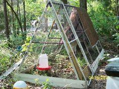 Swing-set chicken coop