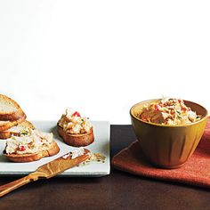 Cajun Hot Crab Dip | Spoon this dip into a baking dish up to a day ahead, but top with panko and chives just before baking. If it's chilled, leave the dish out at room temperature while the oven preheats. Scoop into multiple bowls that you can set at different grazing stations. Appetizer Dips, Appetizer Recipes, Light Appetizers, Mini Appetizers, Recipes Dinner, Snack Recipes, Foie Gras, Crab Dip Recipes, Cajun Recipes