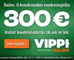 Vippi.fi | Nosta Rahaa 100-2 000€ Tilillesi  Heti Aina Kun Tarvitset! | Vippi.fi