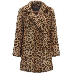 Leopard Fur Coat ($1,270) ❤ liked on Polyvore featuring outerwear, coats, jackets, fur, leopard, leopard print coats, brown coat, leopard print fur coat, brown fur coat and fur coat