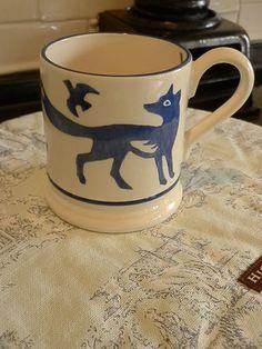 Emma Bridgewater Mark Hearld Half Pint Mug Blue Fox and Bird Design