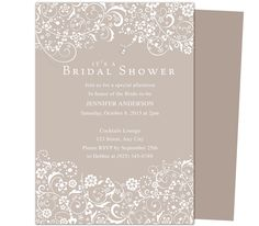 Sheer Bridal Shower Invitation Templates edits easily in Word, Publisher, OpenOffice, and Apple iWork Pages. Print yourself or take locally.
