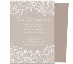 wedding bridal shower invitation templates on pinterest. Black Bedroom Furniture Sets. Home Design Ideas