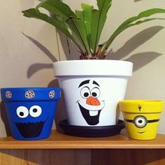 flowerpots on Pinterest | Painted Flower Pots, Flower Pots and Disney