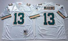 Nike Dolphins #13 Dan Marino White Men Stitched NFL Thowback Jersey