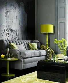 Vibrant Green And Gray Living Rooms Ideas Grey Living Rooms