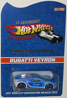 BUGATTI VEYRON Hot Wheels 2013 Mexico Convention Very Rare Code-3 Limited Edition 1:64 Scale Collectible Die Cast Car Model Rides on Redline Real Riders Rubber Tires – Only 25 Made Worldwide!!!