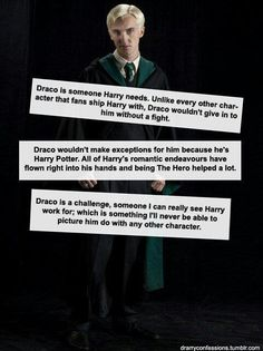 Reasons why Drarry is a good ship/ Harry X Draco / Harry Potter and Draco Malfoy