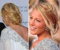 Blake Lively. Penteados despenteados para levar a um casamento. #casamento #penteado #apanhado #despenteado #preso #convidada