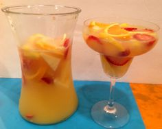 White Wine #Sangria with citrus juices- Great for company