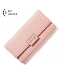 Buy Women RFID Blocking Multi Card Organizer Wallet for women Purse - Pink - and More Fashion Bags at Affordable Prices. Branded Wallets, Women's Wallets, Simple Wallet, Rfid Wallet, Card Organizer, Wallets For Women Leather, Wallet Pattern, Cute Purses, Leather Bifold Wallet