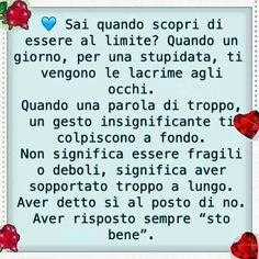 """it Aver risposto sempre """"sto bene"""". Favorite Quotes, Best Quotes, Italian Quotes, Feelings And Emotions, Meaning Of Life, Jokes Quotes, Qoutes, Zodiac Quotes, Nostalgia"""