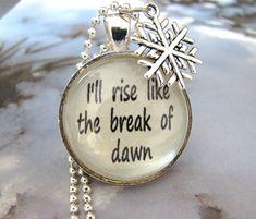 """Disney's """"Frozen"""" Inspired I'll Rise Like The Break Of Dawn Necklace, Disney Frozen, Let it Go Necklace, Frozen Necklace, Let it Go Jewelry on Etsy, $12.95"""