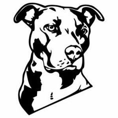 silhouettes of pit bulls - Google Search