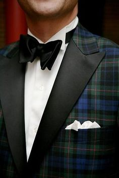 The tartan dinner jacket | A Travelling Salesman