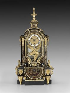 Case by: André-Charles Boulle (1642 - 1732); Movement by: Isaac Thuret (1630 - 1706); Movement by: or Jacques Thuret (1669 - 1738) Year ca. 1690-1700 Material Ebony, turtle shell, brass, gilt bronze, and enamel