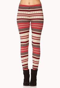 Fair isle leggings from Forever21 #ForeverHoliday @FOREVER™ 21