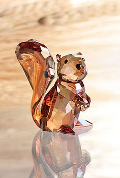Swarovski Crystal Copper Squirrel - Crystal Classics