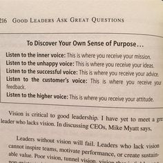 """Who are you listening to...and why? An excerpt from """"Good Leaders Ask Great Questions"""" by @johncmaxwell  #leadership #lifeclass #designthinking"""