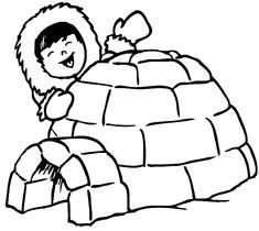 5 Ultimate Igloo Coloring Sheets for Kids - Coloring Pages Coloring Sheets For Kids, Animal Coloring Pages, Colouring Pages, Polo Norte, Igloo Drawing, Decoration Creche, Artic Animals, Eskimo, Drawing Projects